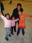 Dorothy (Tiano) Melvin with my nieces iceskating this past winter.