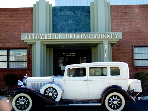 A Vintage Car at the entrance to the Car Museum!